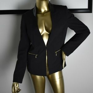 TAHARI Black Womens Blazer Career Jacket Size 4 S